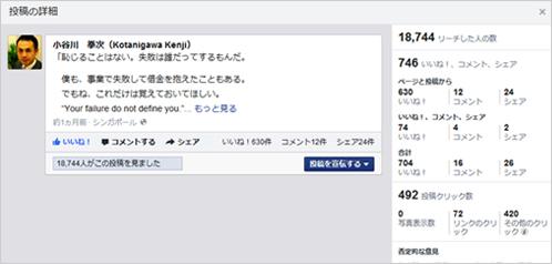 事例2)Facebookで魔法のようにリーチを広げ、トラフィックを増加させる方法