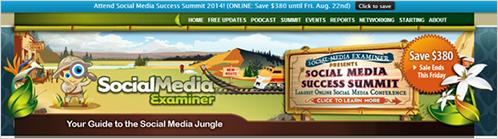 2)Social Media Examinar(ソーシャルメディア・エグザミナー)の成功事例