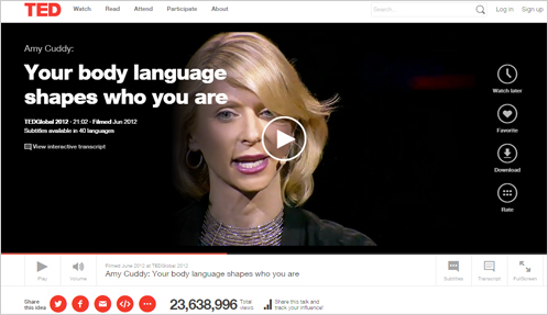 """>1) 世界的なカンファレンス、""""TED""""で語るソートリーダー達の実例"""