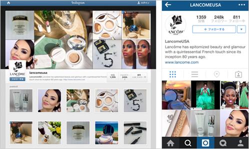 6)化粧品大手LANCOME USAが実践するインスタグラムビデオ戦略