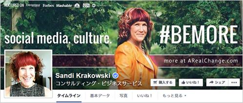 2)ソーシャルコンサルタントであるサンディ・コロコウスキ氏の成功事例