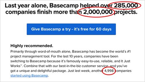 4)ベースキャンプ社のコピーライティング事例